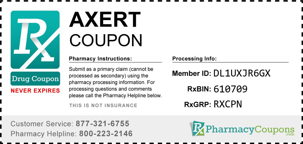 Axert Prescription Drug Coupon with Pharmacy Savings