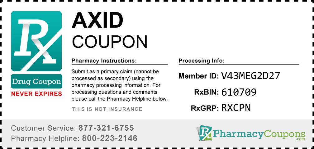 Axid Prescription Drug Coupon with Pharmacy Savings