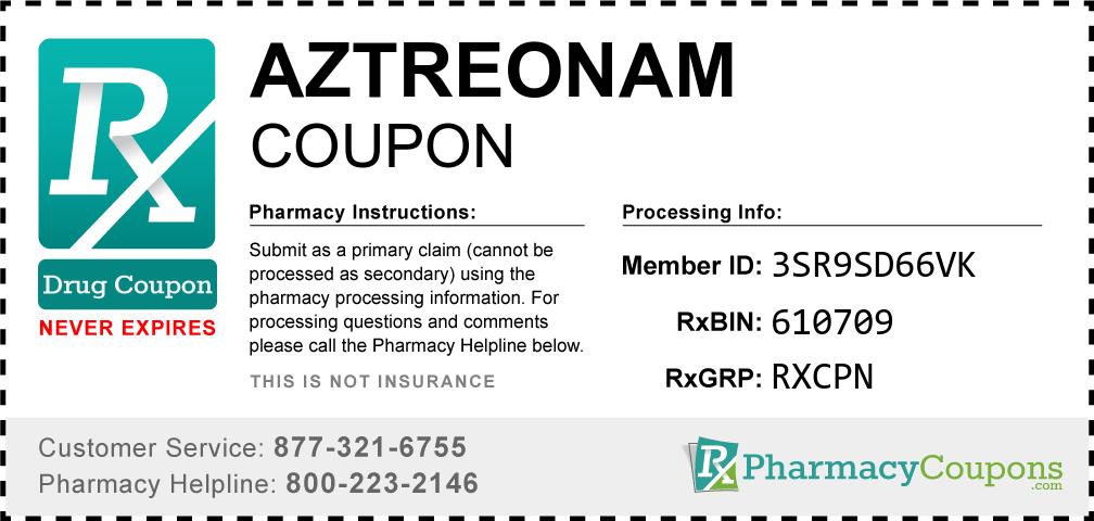 Aztreonam Prescription Drug Coupon with Pharmacy Savings