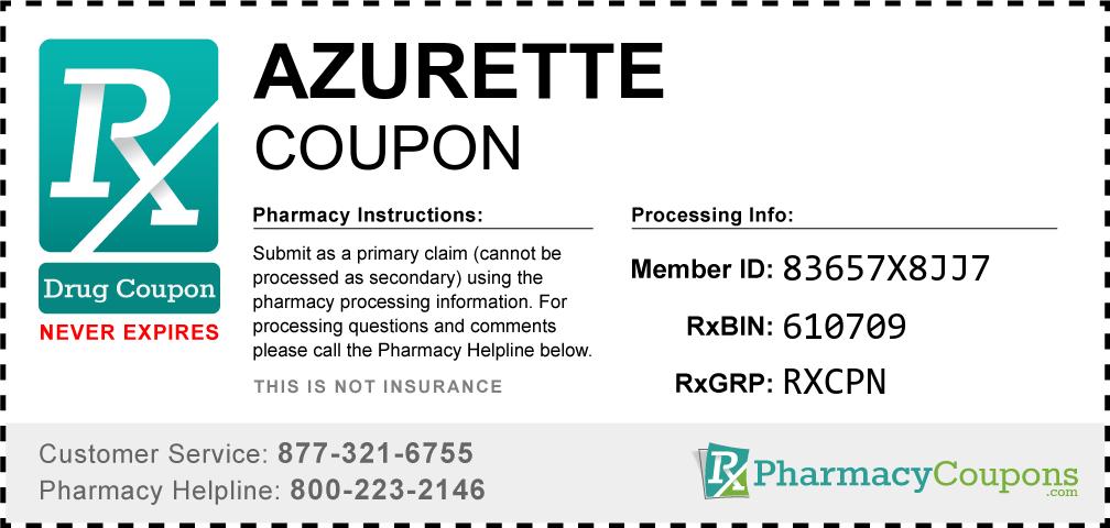 Azurette Prescription Drug Coupon with Pharmacy Savings