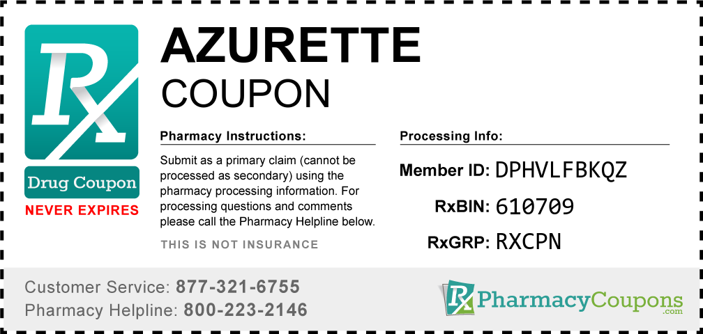 Azurette Prescription Drug Coupon with Pharmacy Savings