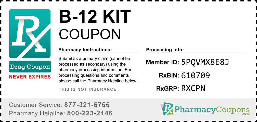 B-12 kit Prescription Drug Coupon with Pharmacy Savings