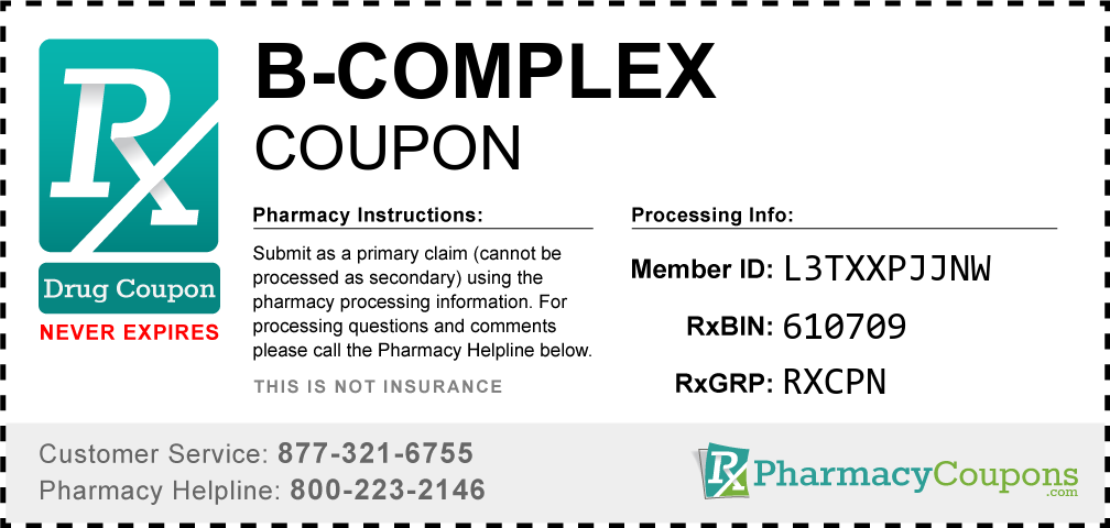 B-complex Prescription Drug Coupon with Pharmacy Savings