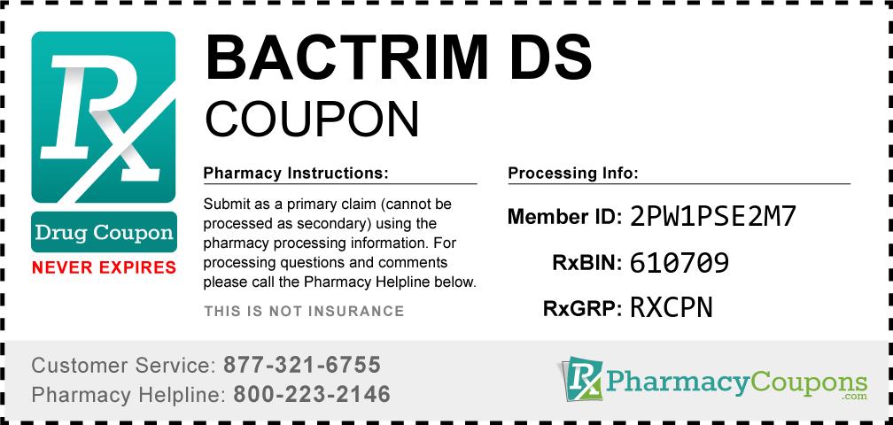 Bactrim ds Prescription Drug Coupon with Pharmacy Savings