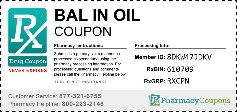 Bal in oil Prescription Drug Coupon with Pharmacy Savings