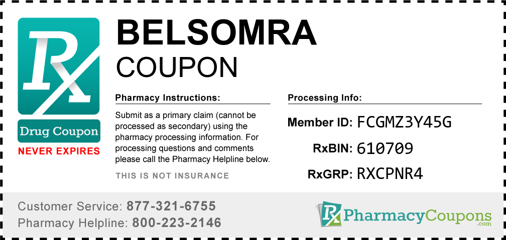 Belsomra Prescription Drug Coupon with Pharmacy Savings