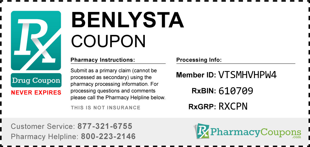 Benlysta Prescription Drug Coupon with Pharmacy Savings