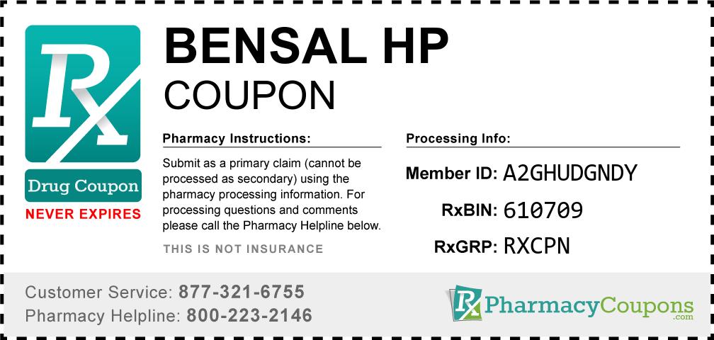 Bensal hp Prescription Drug Coupon with Pharmacy Savings