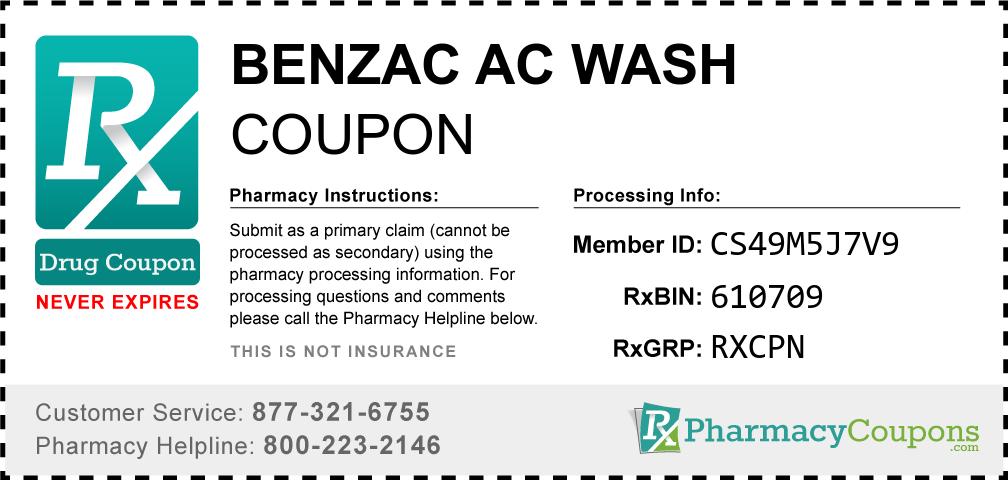 Benzac ac wash Prescription Drug Coupon with Pharmacy Savings