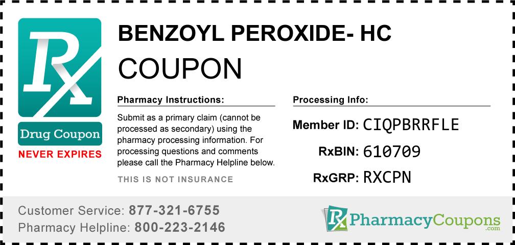 Benzoyl peroxide- hc Prescription Drug Coupon with Pharmacy Savings