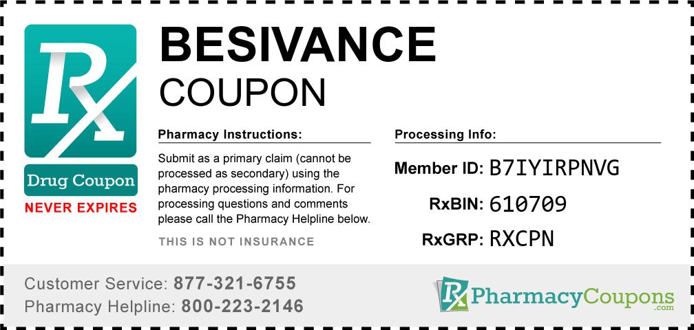 Besivance Prescription Drug Coupon with Pharmacy Savings