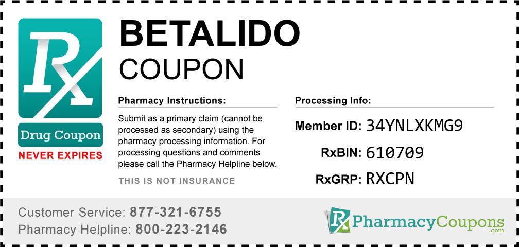 Betalido Prescription Drug Coupon with Pharmacy Savings