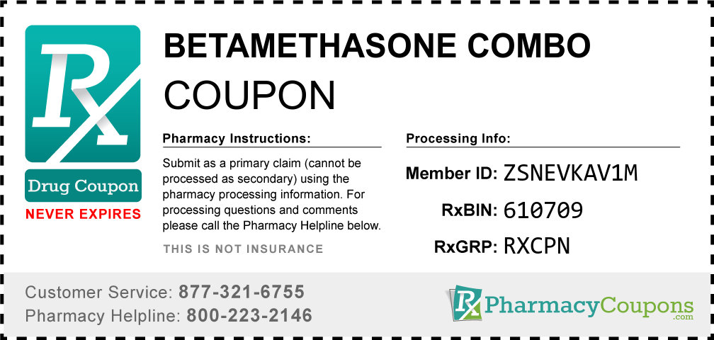 Betamethasone combo Prescription Drug Coupon with Pharmacy Savings