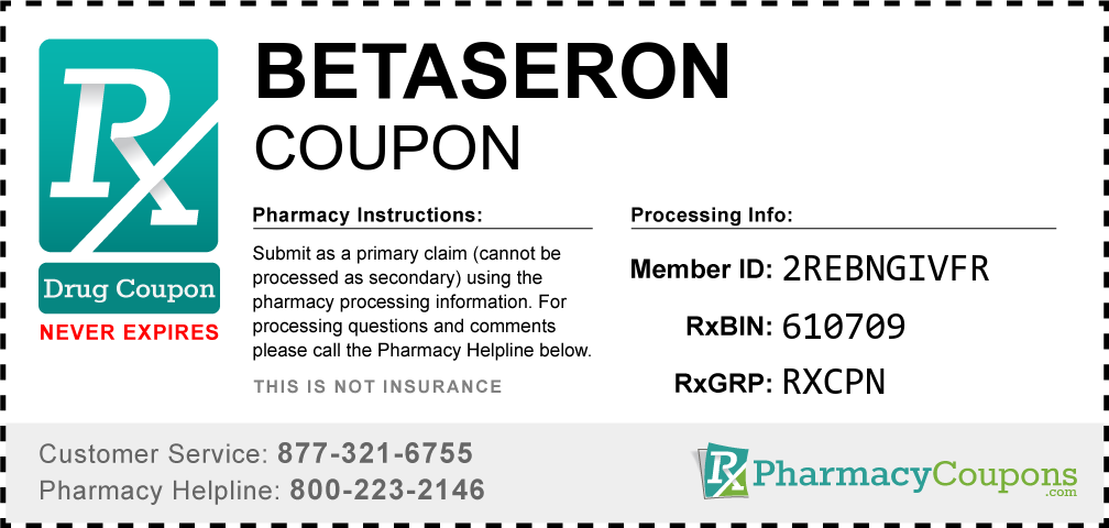 Betaseron Prescription Drug Coupon with Pharmacy Savings