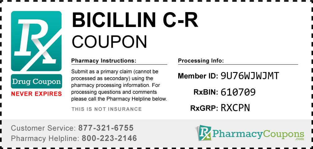 Bicillin c-r Prescription Drug Coupon with Pharmacy Savings