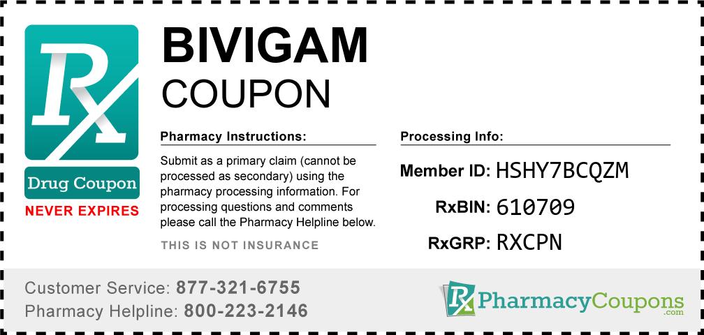 Bivigam Prescription Drug Coupon with Pharmacy Savings