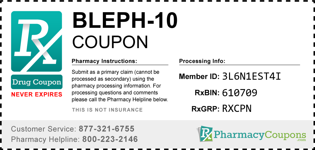Bleph-10 Prescription Drug Coupon with Pharmacy Savings