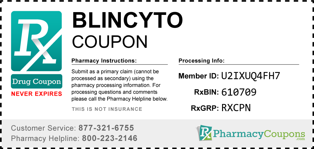 Blincyto Prescription Drug Coupon with Pharmacy Savings