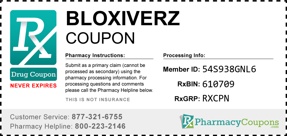 Bloxiverz Prescription Drug Coupon with Pharmacy Savings