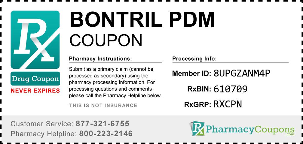 Bontril pdm Prescription Drug Coupon with Pharmacy Savings