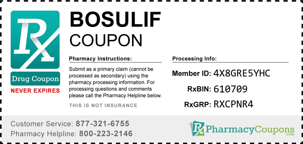 Bosulif Prescription Drug Coupon with Pharmacy Savings