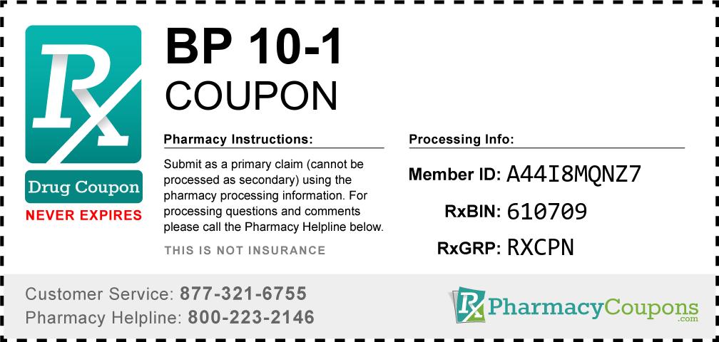Bp 10-1 Prescription Drug Coupon with Pharmacy Savings