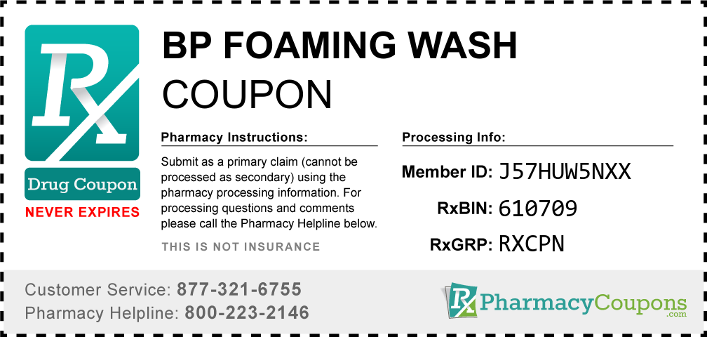 Bp foaming wash Prescription Drug Coupon with Pharmacy Savings