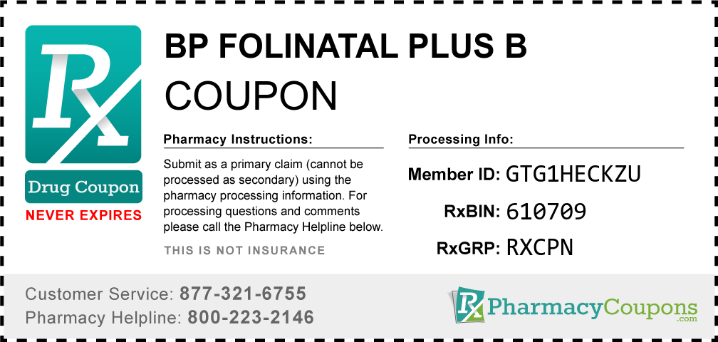 Bp folinatal plus b Prescription Drug Coupon with Pharmacy Savings
