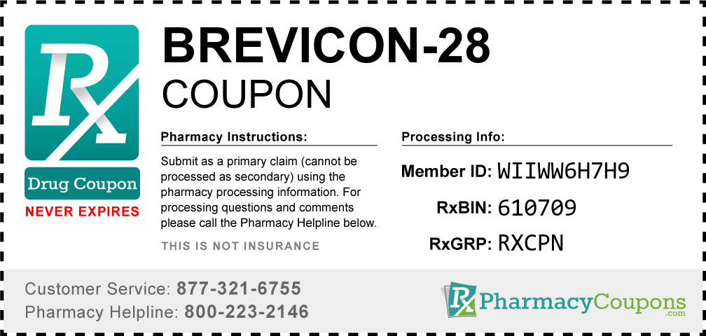Brevicon-28 Prescription Drug Coupon with Pharmacy Savings
