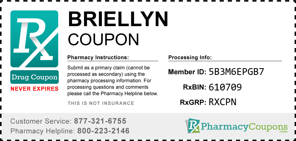 Briellyn Prescription Drug Coupon with Pharmacy Savings