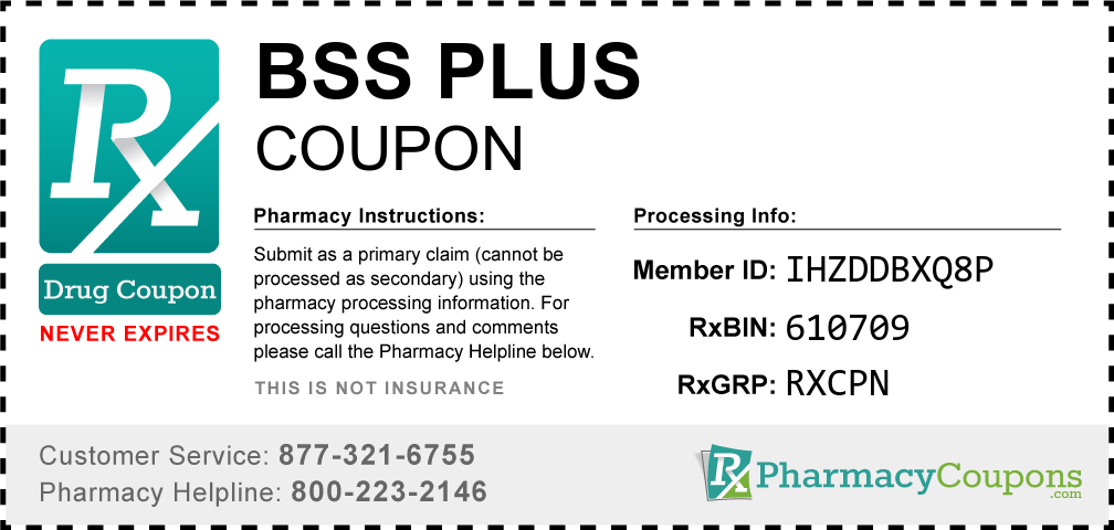 Bss plus Prescription Drug Coupon with Pharmacy Savings