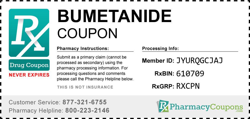 Bumetanide Prescription Drug Coupon with Pharmacy Savings