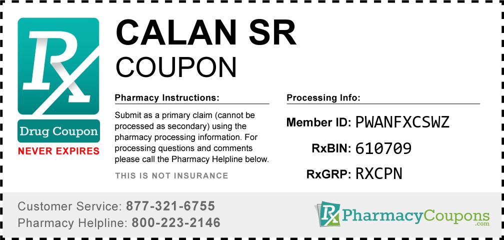 Calan sr Prescription Drug Coupon with Pharmacy Savings