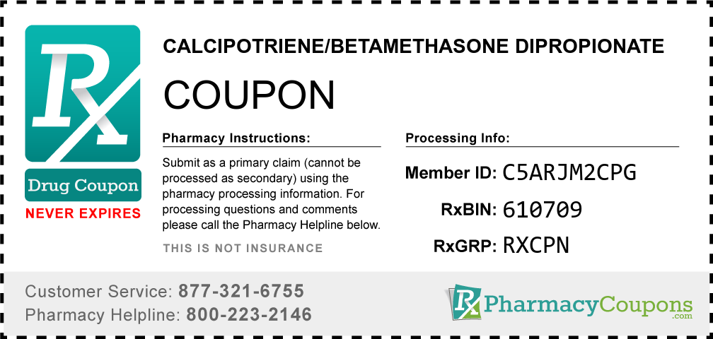 Calcipotriene/betamethasone dipropionate Prescription Drug Coupon with Pharmacy Savings