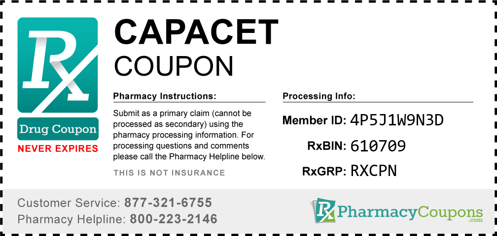 Capacet Prescription Drug Coupon with Pharmacy Savings