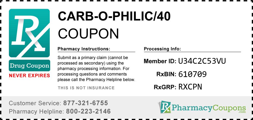 Carb-o-philic/40 Prescription Drug Coupon with Pharmacy Savings