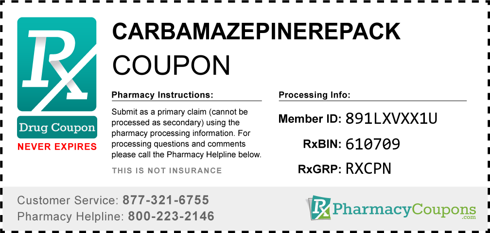 Carbamazepinerepack Prescription Drug Coupon with Pharmacy Savings
