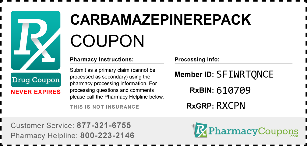 Carbamazepinerepack Prescription Drug Coupon with Pharmacy Savings