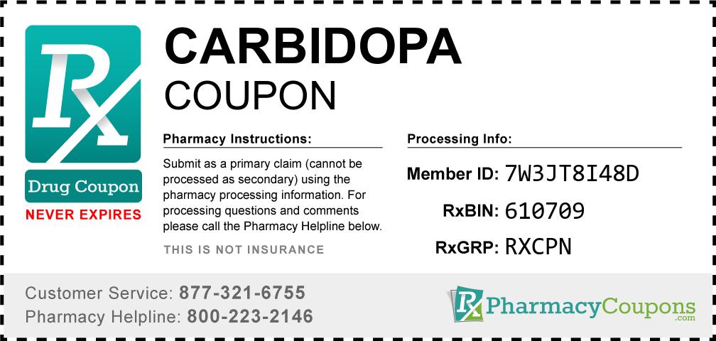 Carbidopa Prescription Drug Coupon with Pharmacy Savings