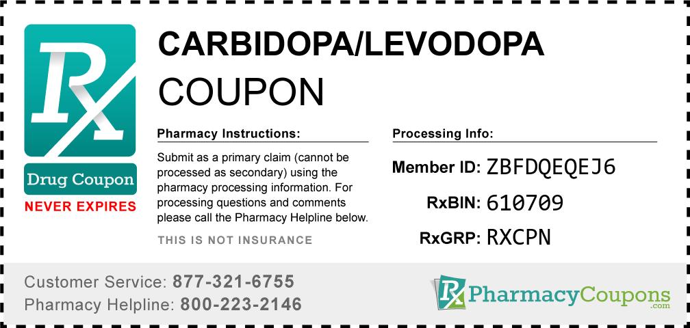 Carbidopa/levodopa Prescription Drug Coupon with Pharmacy Savings