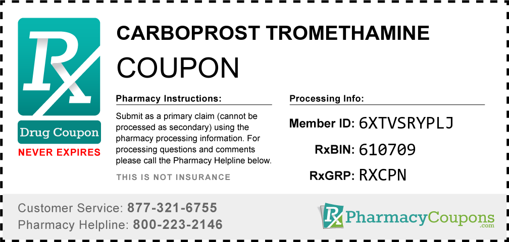 Carboprost tromethamine Prescription Drug Coupon with Pharmacy Savings