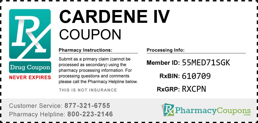 Cardene iv Prescription Drug Coupon with Pharmacy Savings