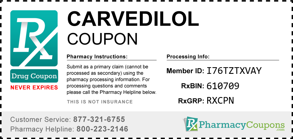 Carvedilol Prescription Drug Coupon with Pharmacy Savings