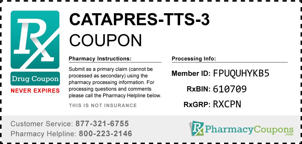 Catapres-tts-3 Prescription Drug Coupon with Pharmacy Savings