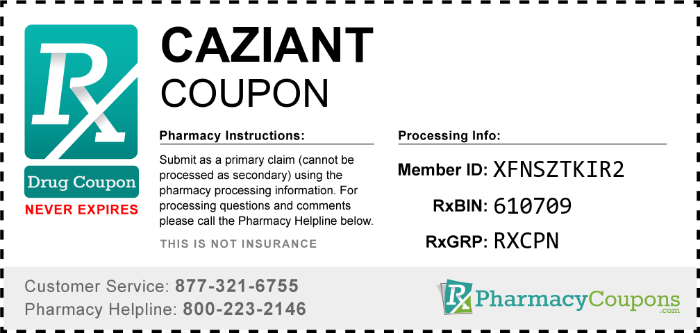 Caziant Prescription Drug Coupon with Pharmacy Savings