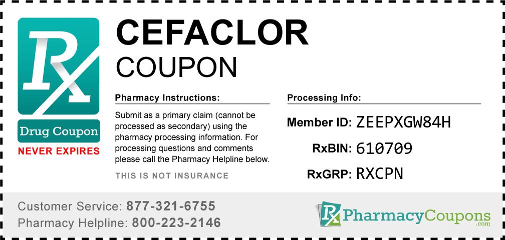 Cefaclor Prescription Drug Coupon with Pharmacy Savings
