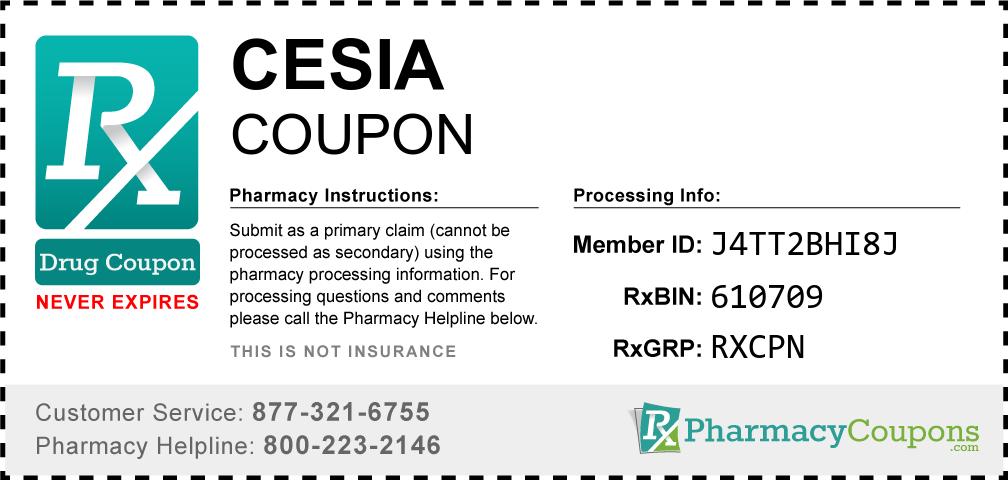 Cesia Prescription Drug Coupon with Pharmacy Savings