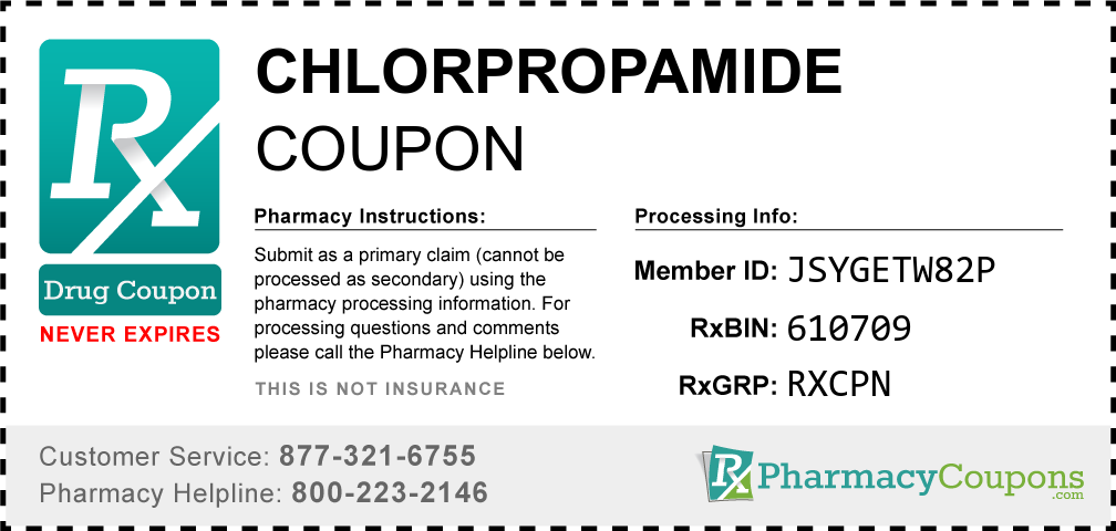 Chlorpropamide Prescription Drug Coupon with Pharmacy Savings