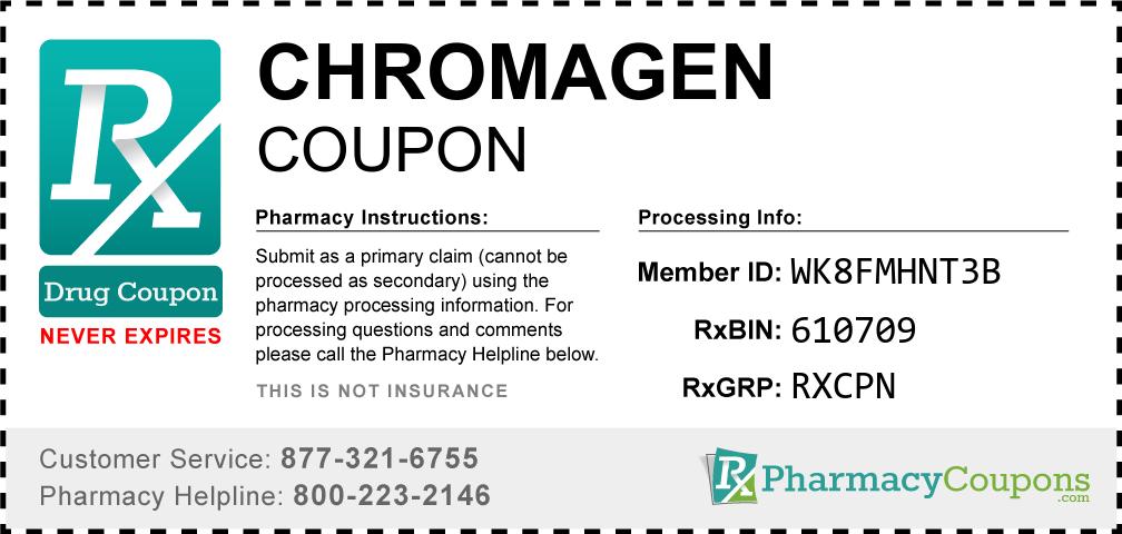 Chromagen Prescription Drug Coupon with Pharmacy Savings