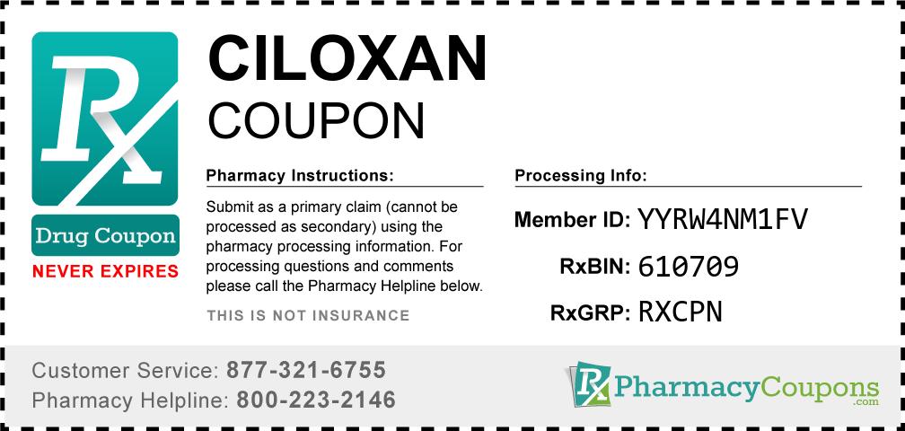 Ciloxan Prescription Drug Coupon with Pharmacy Savings